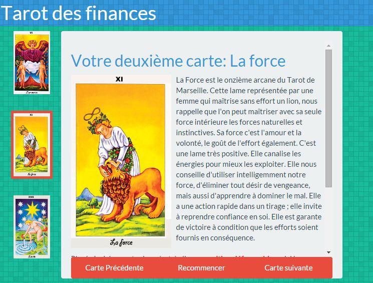 tarot argent finance